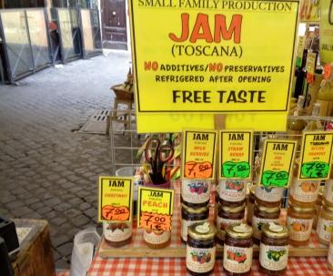 Marmelade auf dem Campo de Fiori Roma