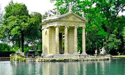 See und Pavilion Villa Borghese Rom